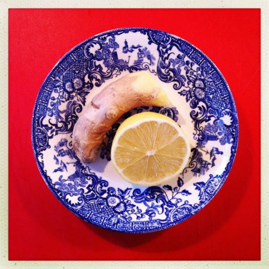 ingefära, citron