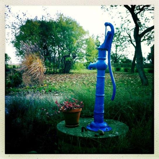 Pump i trädgården