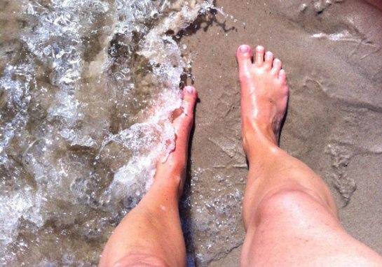 Fötter på Sandhammaren